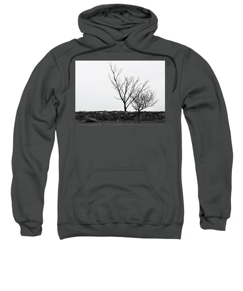 Stone Wall With Trees In Winter Sweatshirt