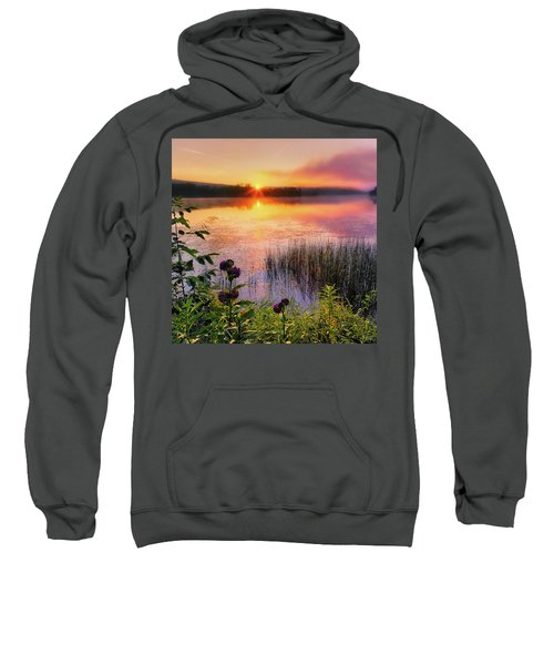 Sweatshirt featuring the photograph Summer Sunrise Square by Bill Wakeley