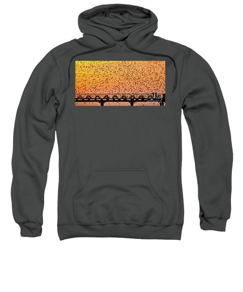 Sunset And Starlings In Aberystwyth Wales Sweatshirt