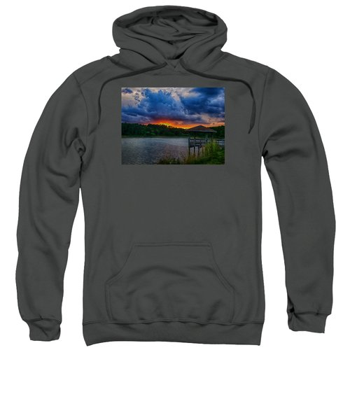Sunset Huntington Beach State Park Sweatshirt by Bill Barber