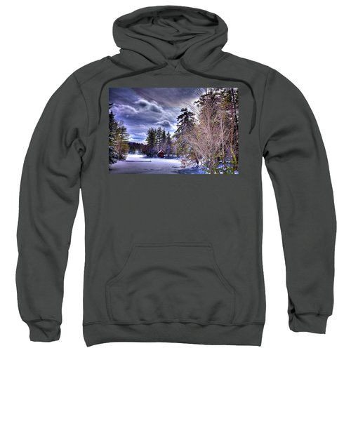 Sweatshirt featuring the photograph The Beaver Brook Boathouse by David Patterson