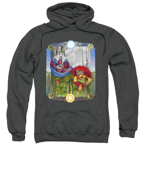 The Holly King And The Oak King Sweatshirt by Melissa A Benson