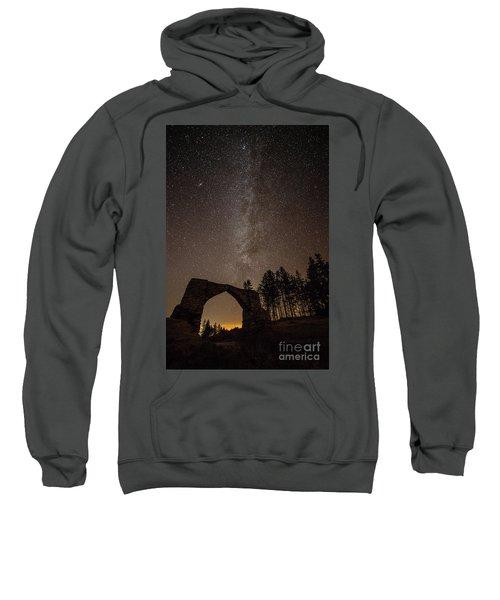The Milky Way Over The Hafod Arch, Ceredigion Wales Uk Sweatshirt