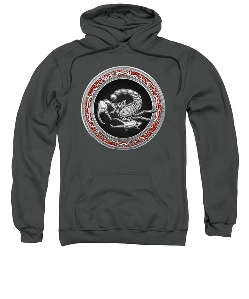 Treasure Trove - Sacred Silver Scorpion On Red Sweatshirt