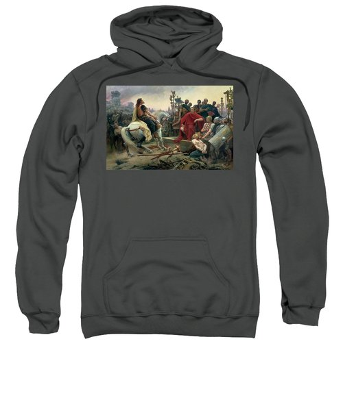 Vercingetorix Throws Down His Arms At The Feet Of Julius Caesar Sweatshirt