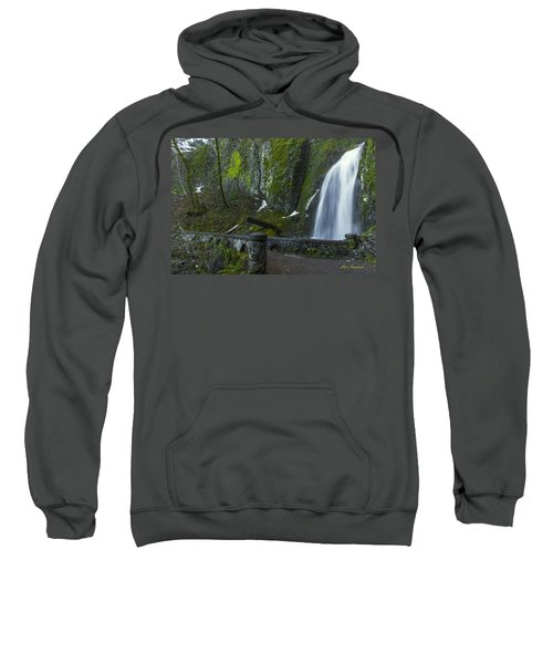 Wahkeena Falls Bridge Signed Sweatshirt