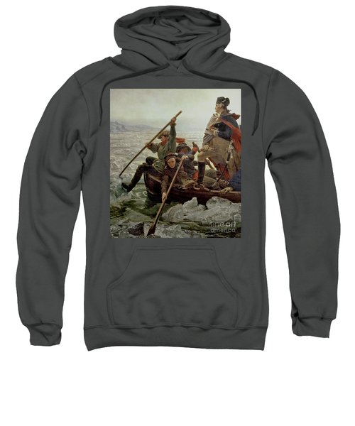 Washington Crossing The Delaware River Sweatshirt by Emanuel Gottlieb Leutze