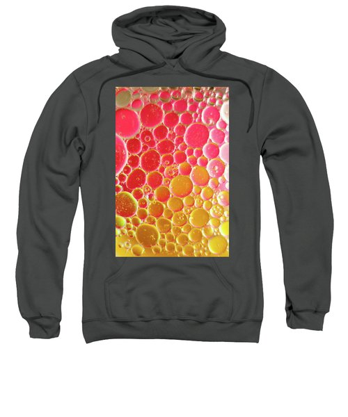 Water And Oil Bubbles Sweatshirt