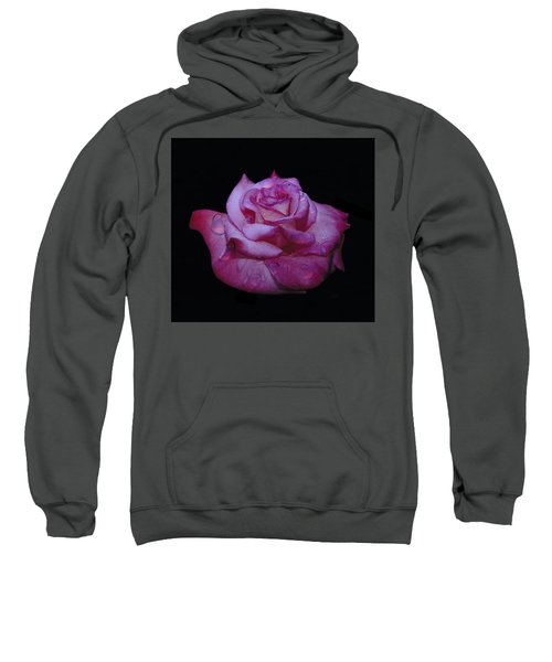 Watered Red Rose Sweatshirt