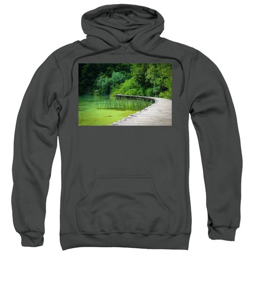 Wooden Path In The Forest Sweatshirt