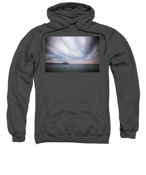 10 Minute Exposure Of Eastbourne Pier Sweatshirt