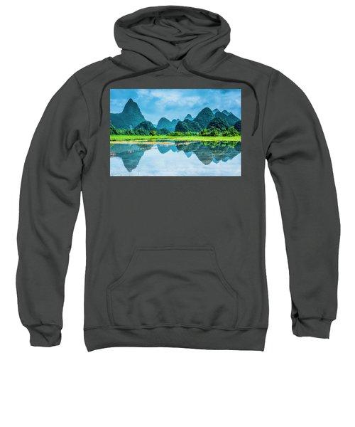 Karst Rural Scenery In Raining Sweatshirt