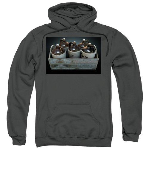 Moonshine In Wooden Crate Sweatshirt