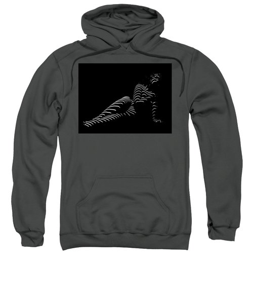 1370-tnd Zebra Woman Striped Woman Black And White Abstract Photo By Chris Maher Sweatshirt