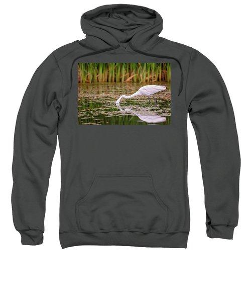 White, Great Egret Sweatshirt