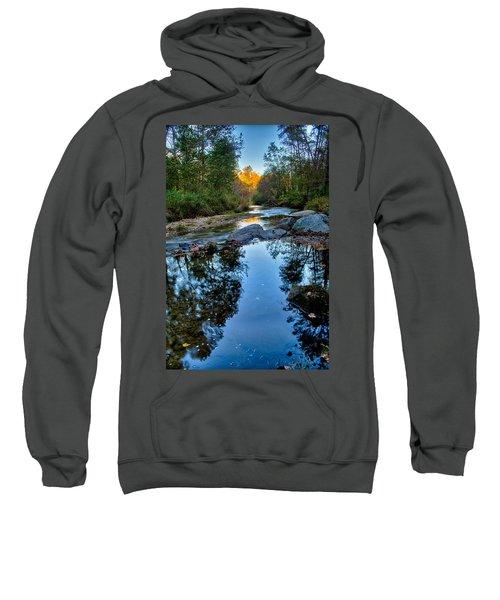 Stone Mountain North Carolina Scenery During Autumn Season Sweatshirt