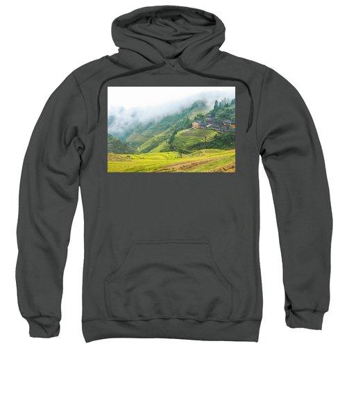 Terrace Fields Scenery In Autumn Sweatshirt