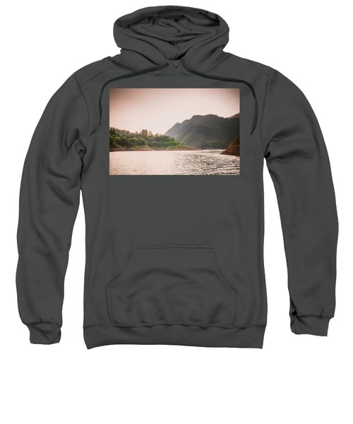 The Mountains And Lake Scenery In Sunset Sweatshirt