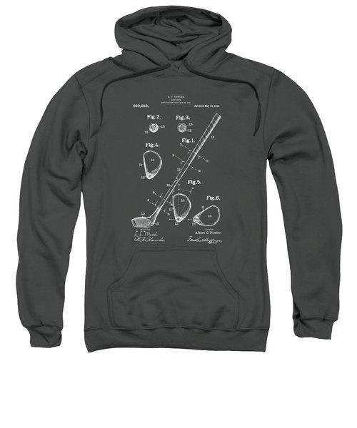 1910 Golf Club Patent Artwork - Gray Sweatshirt by Nikki Marie Smith