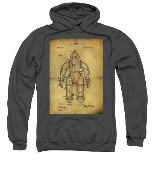 1915 Underwater Armor Suit Patent Sweatshirt