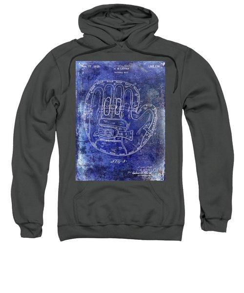 1925 Baseball Glove Patent Blue Sweatshirt