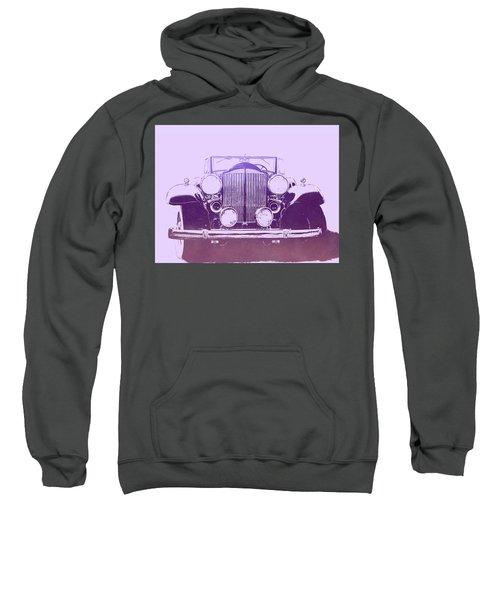 1932 Packard Pop Art Violet Gradient Sweatshirt