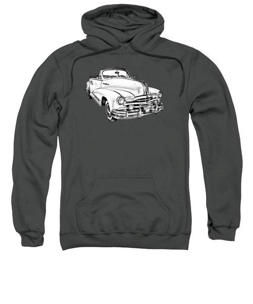 1948 Pontiac Silver Streak Convertible Illustration Sweatshirt