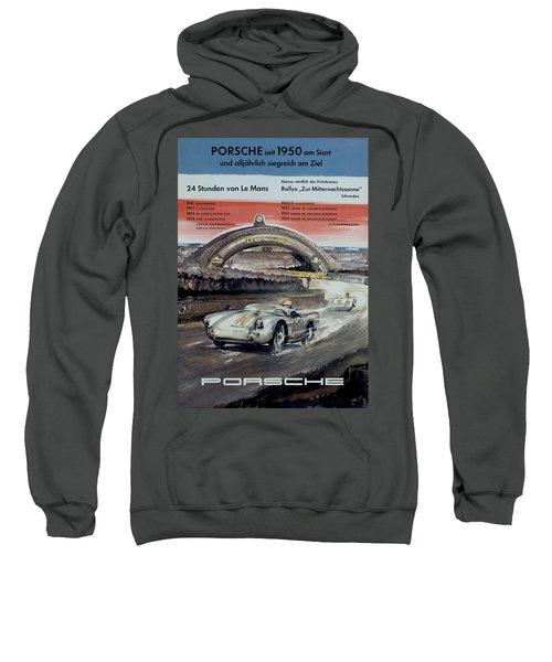 1950 Porsche Le Mans Poster Sweatshirt
