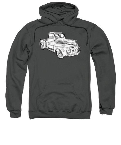 1951 Ford F-1 Pickup Truck Illustration  Sweatshirt