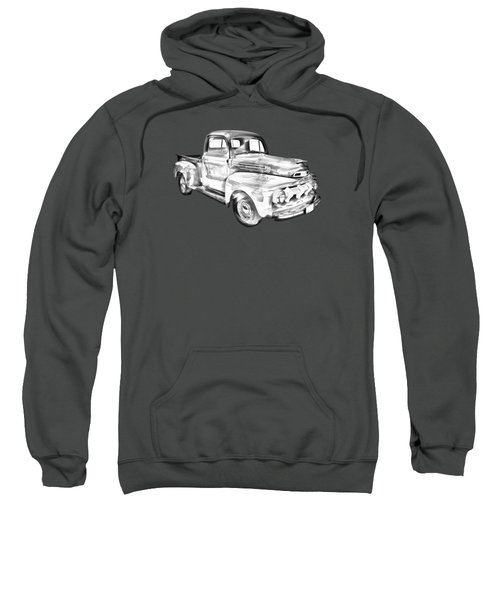 1951 Ford F-1 Pickup Truck Illustration  Sweatshirt