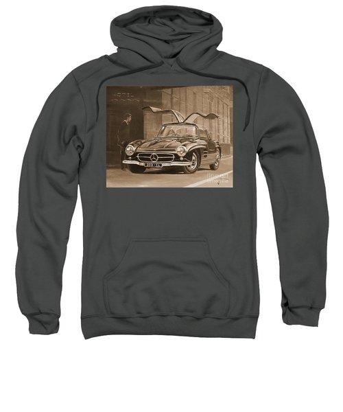1954 Mercedes Benz 300 Sl  In Sepia Sweatshirt