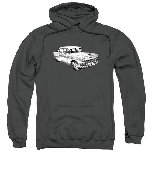 1955 Chevrolet Bel Air Illustration Sweatshirt
