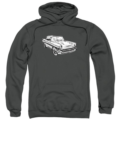 1957 Chevy Bel Air Illustration Sweatshirt