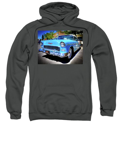 1955 Chevy Baby Blue Sweatshirt