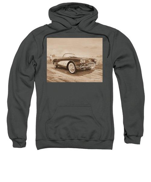 1959 Chevrolet Corvette Cabriollet In Sepia Sweatshirt