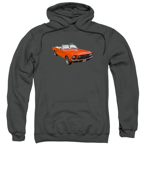1965 Red Convertible Ford Mustang - Classic Car Sweatshirt