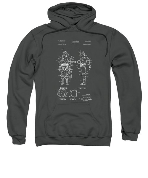 1968 Hard Space Suit Patent Artwork - Gray Sweatshirt