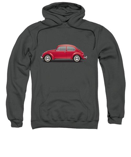 1968 Volkswagen Sedan - Royal Red Sweatshirt by Ed Jackson