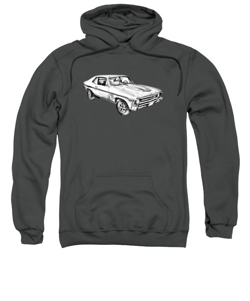 1969 Chevrolet Nova Yenko 427 Muscle Car Illustration Sweatshirt