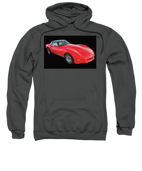 1977 Chevy Corvette T Tops Digital Oil Sweatshirt