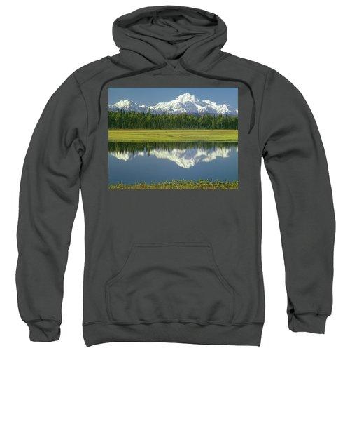 1m1325 Mt. Hunter And Mt. Denali Sweatshirt