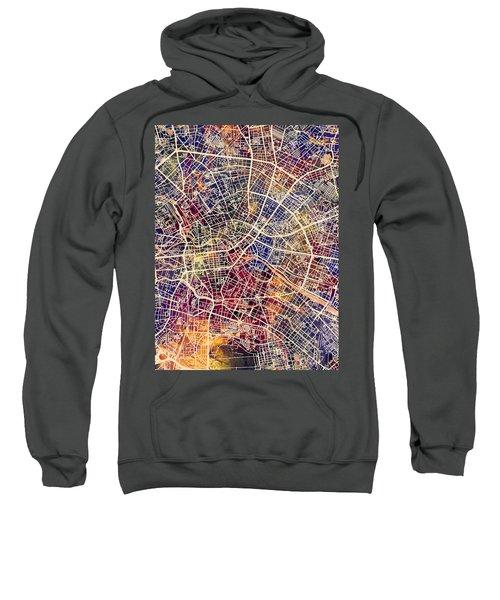 Berlin Germany City Map Sweatshirt