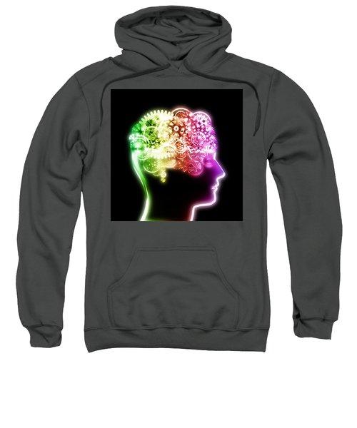 Brain Design By Cogs And Gears Sweatshirt