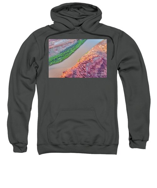 Canyon Of Colorado River - Sunrise Aerial View Sweatshirt