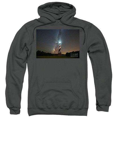 Cape Hatteras Lighthouse Milky Way Sweatshirt