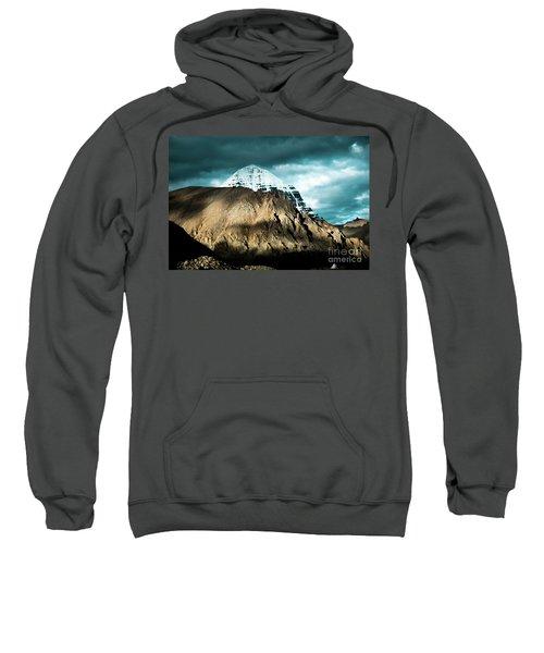 Holy Kailas East Slop Himalayas Tibet Yantra.lv Sweatshirt