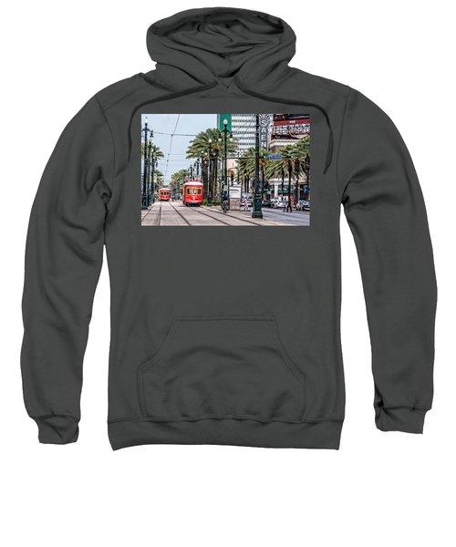 New Orleans Canal Street Streetcars Sweatshirt