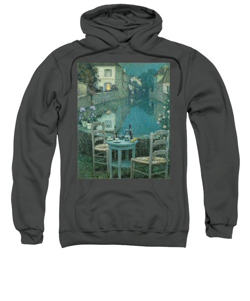 Small Table In Evening Dusk Sweatshirt
