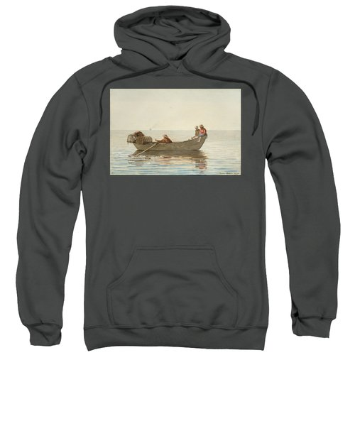 Three Boys In A Dory With Lobster Pots  Sweatshirt