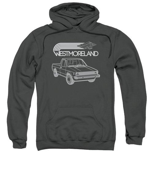 Vw Rabbit Pickup - Westmoreland Theme - Black Sweatshirt